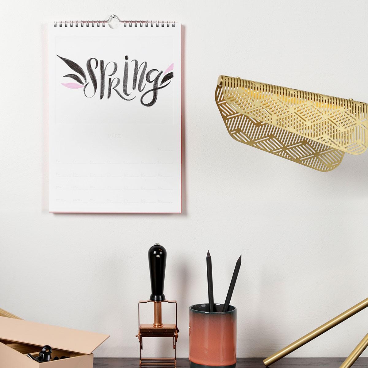 Do it Yourself Kalender 2020 – Wandkalender zum Selber-Gestalten – rikiki. Grafik & Produkt