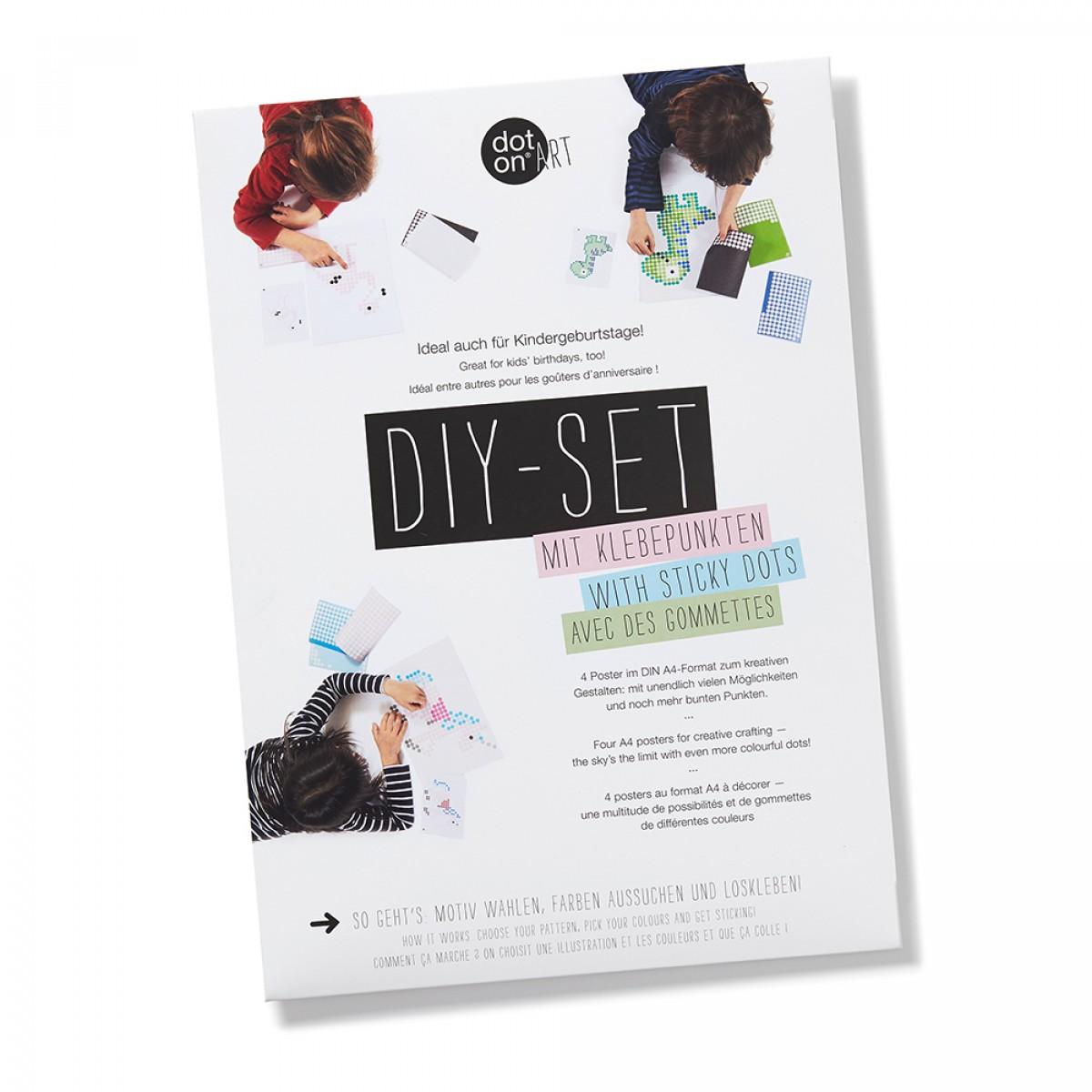 dot on art / DIY-Set – dotty Set für kleine Klebefans