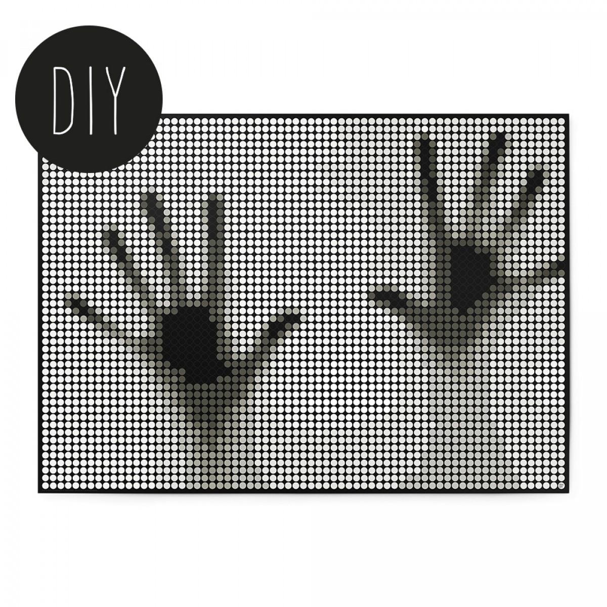 dot on art / hands – DIY-Kunstwerk zum Selberkleben / 50x70 cm