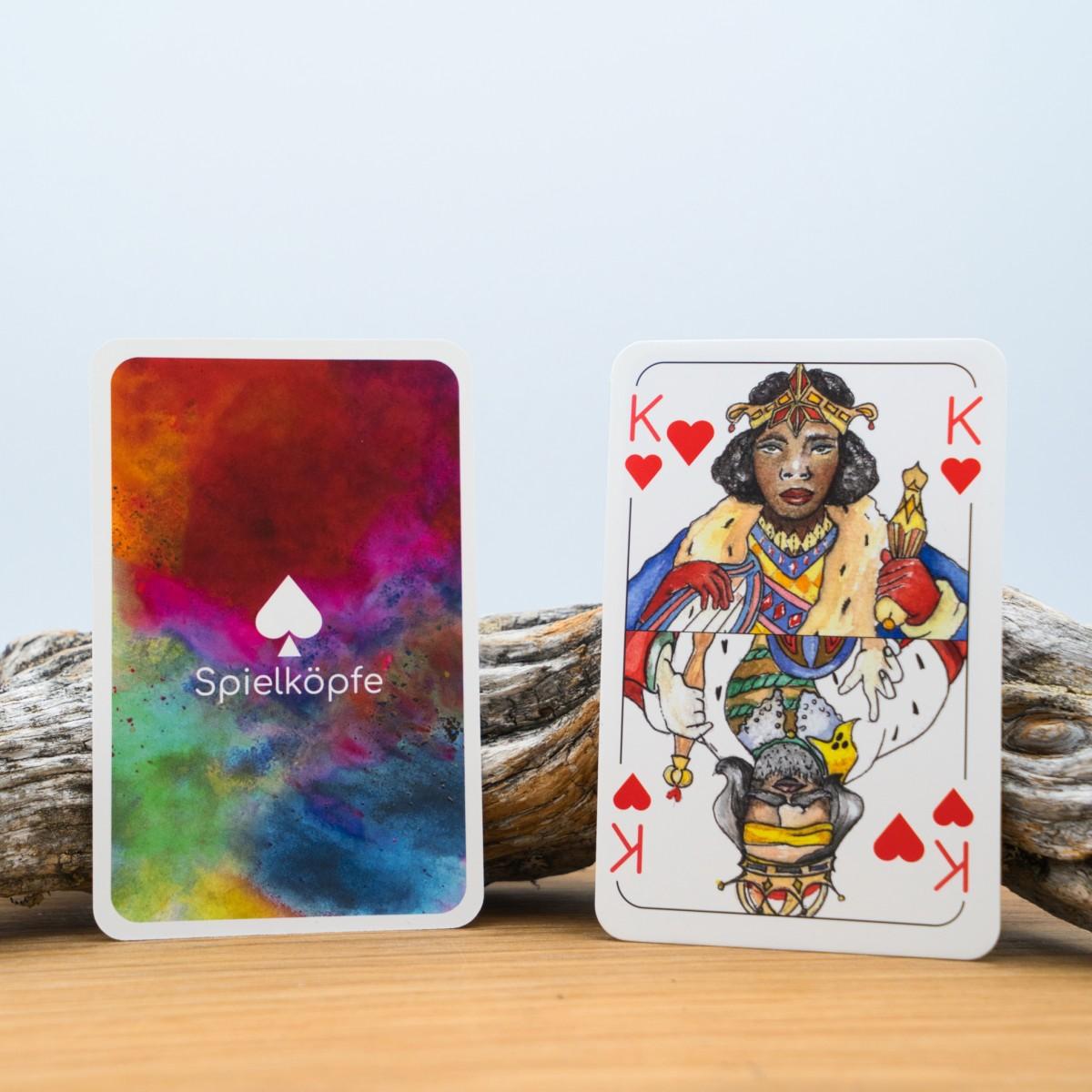 Spielköpfe Spielkarten - Doppelkopf - Das gendergerechte Kartendeck
