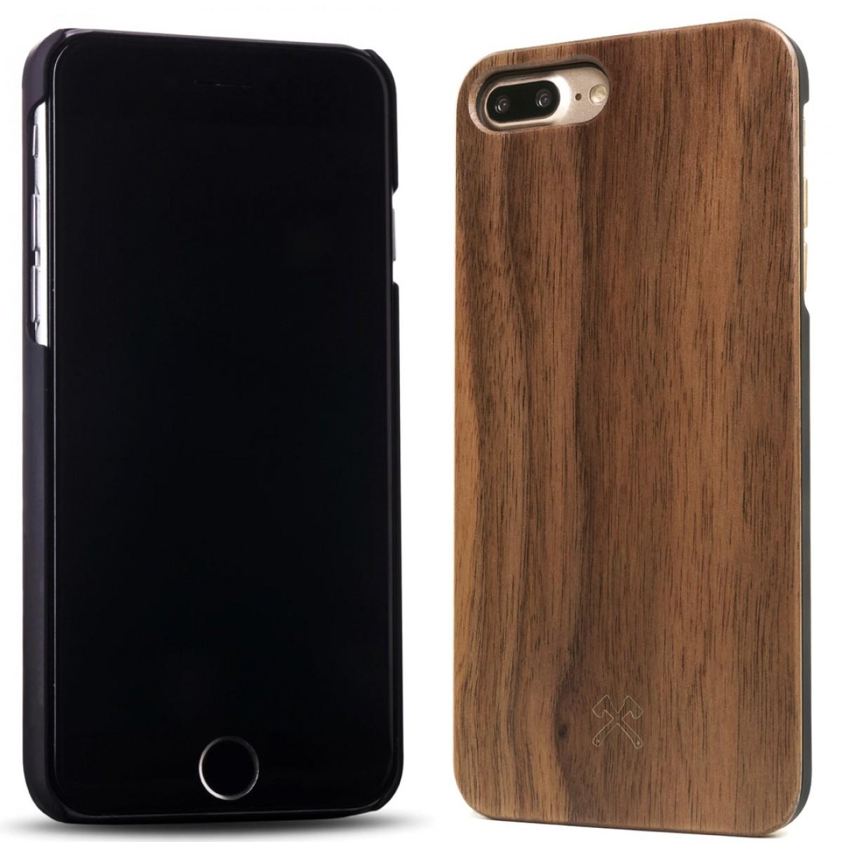Woodcessories - EcoCase Classic - Premium Design Case, Cover, Hülle für das iPhone aus FSC zert. Holz (iPhone 7 Plus/ 8 Plus, Walnuss, Kirsche, Bambus / schwarz)