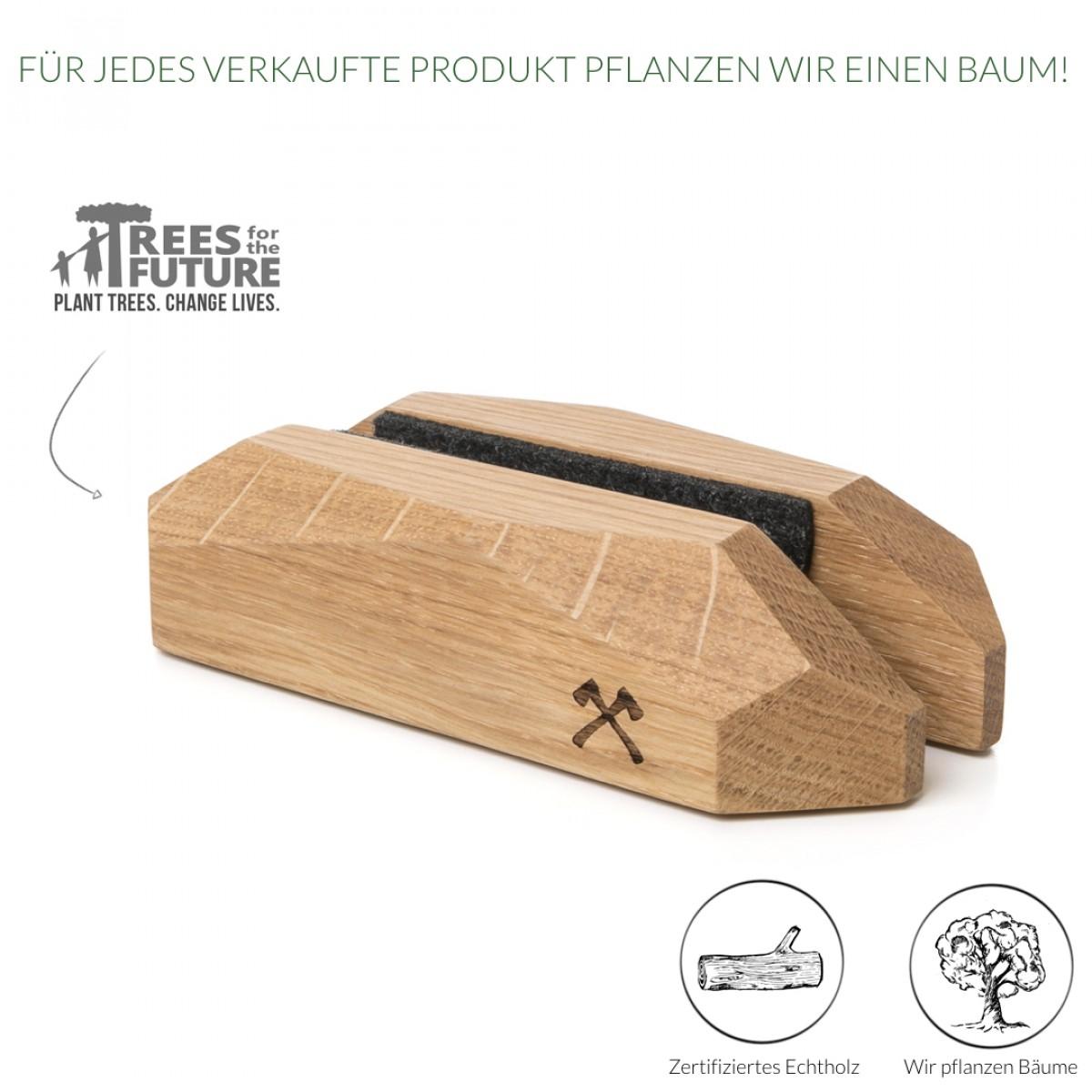 Woodcessories - EcoRest MacBook - Premium Design Ständer, Halterung, Stand, Rest für das Apple MacBook aus massivem FSC-zertifiziertem Holz (Eiche)