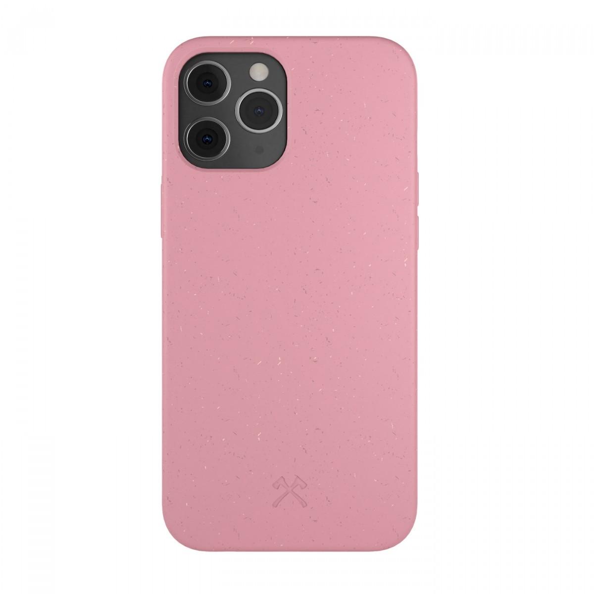 Woodcessoires – Nachhaltige iPhone Hülle aus Bio-Material für iPhone 12 / Mini / Pro / Pro Max (coralpink)