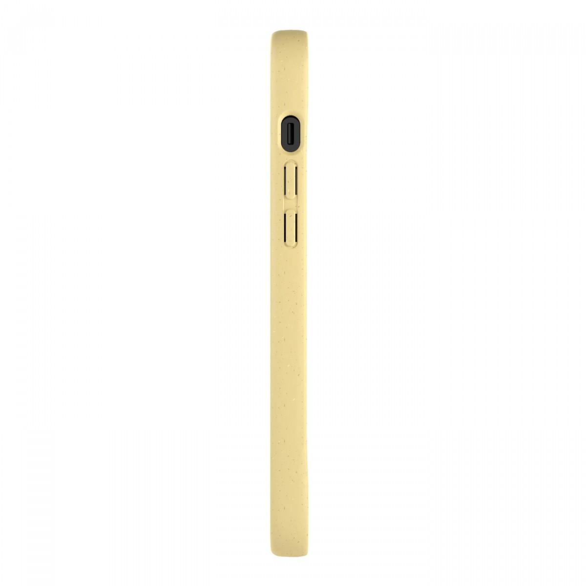 Woodcessoires – Nachhaltige iPhone Hülle aus Bio-Material für iPhone 12 / Mini / Pro / Pro Max (zitrusgelb)