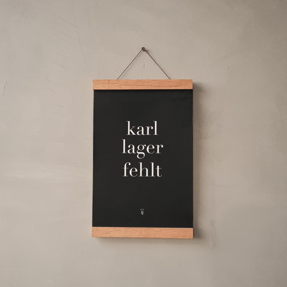 """edition ij """"Karl Lager fehlt"""" Poster/Artprint DIN A4"""