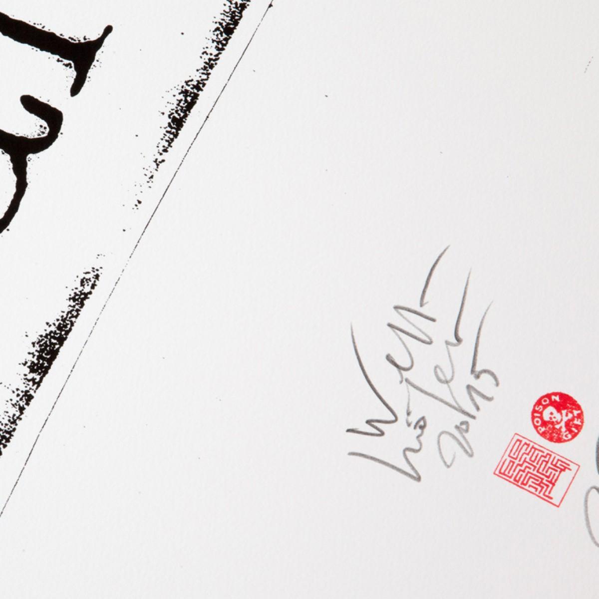 edition rikiki Siebdruck Erich Wellhöfer – Absinth