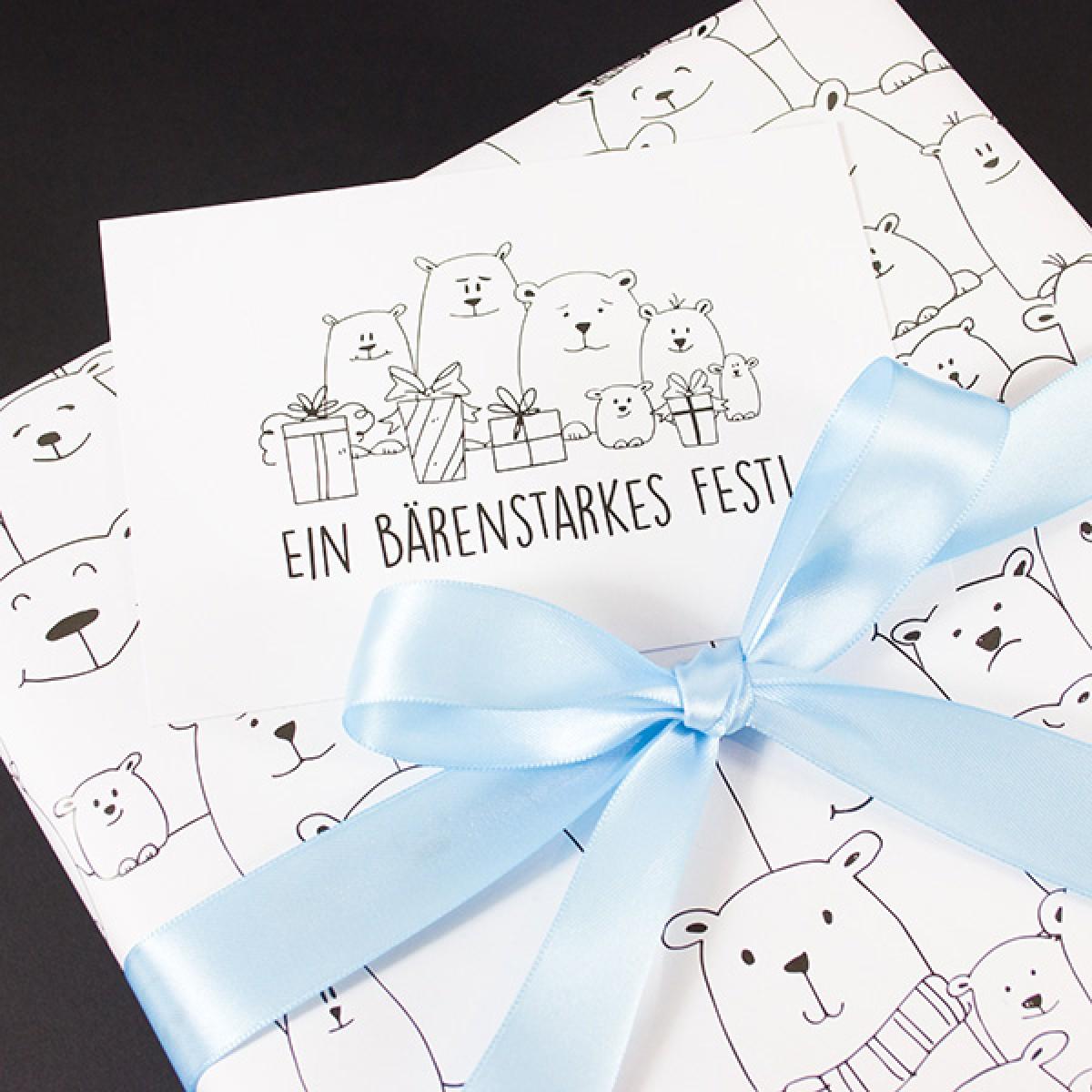 Bow & Hummingbird Geschenkpapier Eisbärenbande