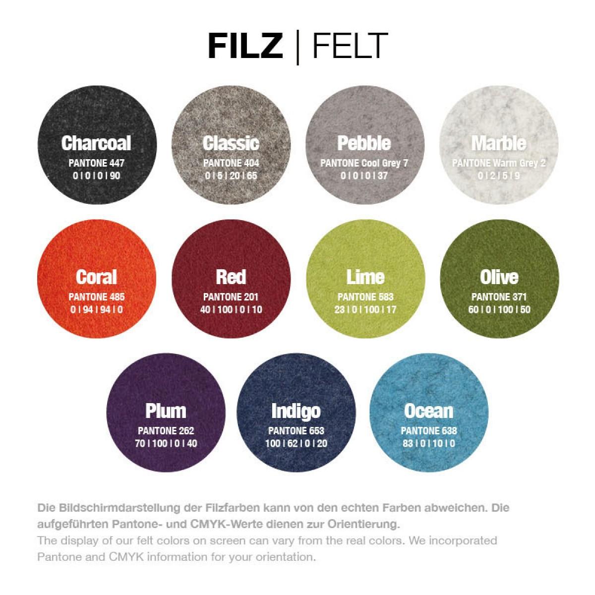 Specs Shelter Felt - Brillenetui - (Filz) verschiedene Farben - Burning Love