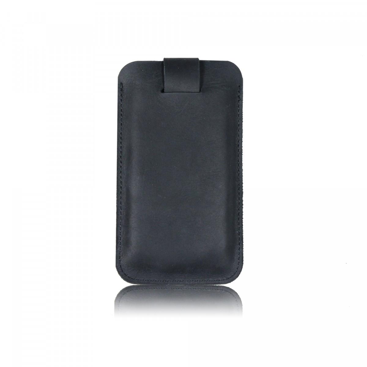 iPhone Case aus schwarzem Leder