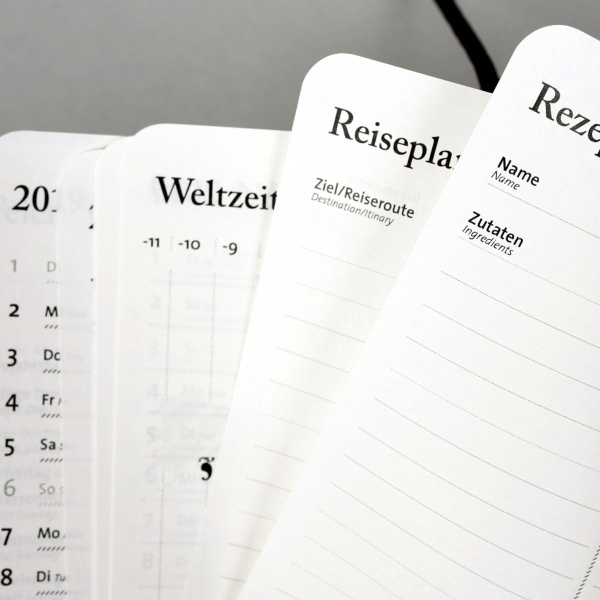 tyyp Kalender 2020 - Schwarz, DIN A6, Handmade