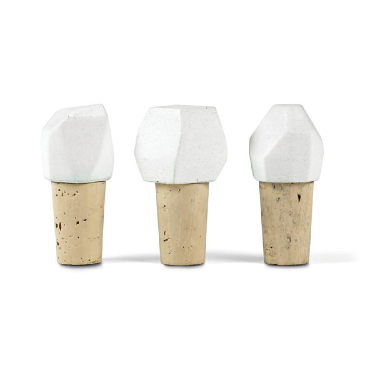 Korn Produkte Flaschenverschluss ZWÖLF aus Beton und Kork im SET