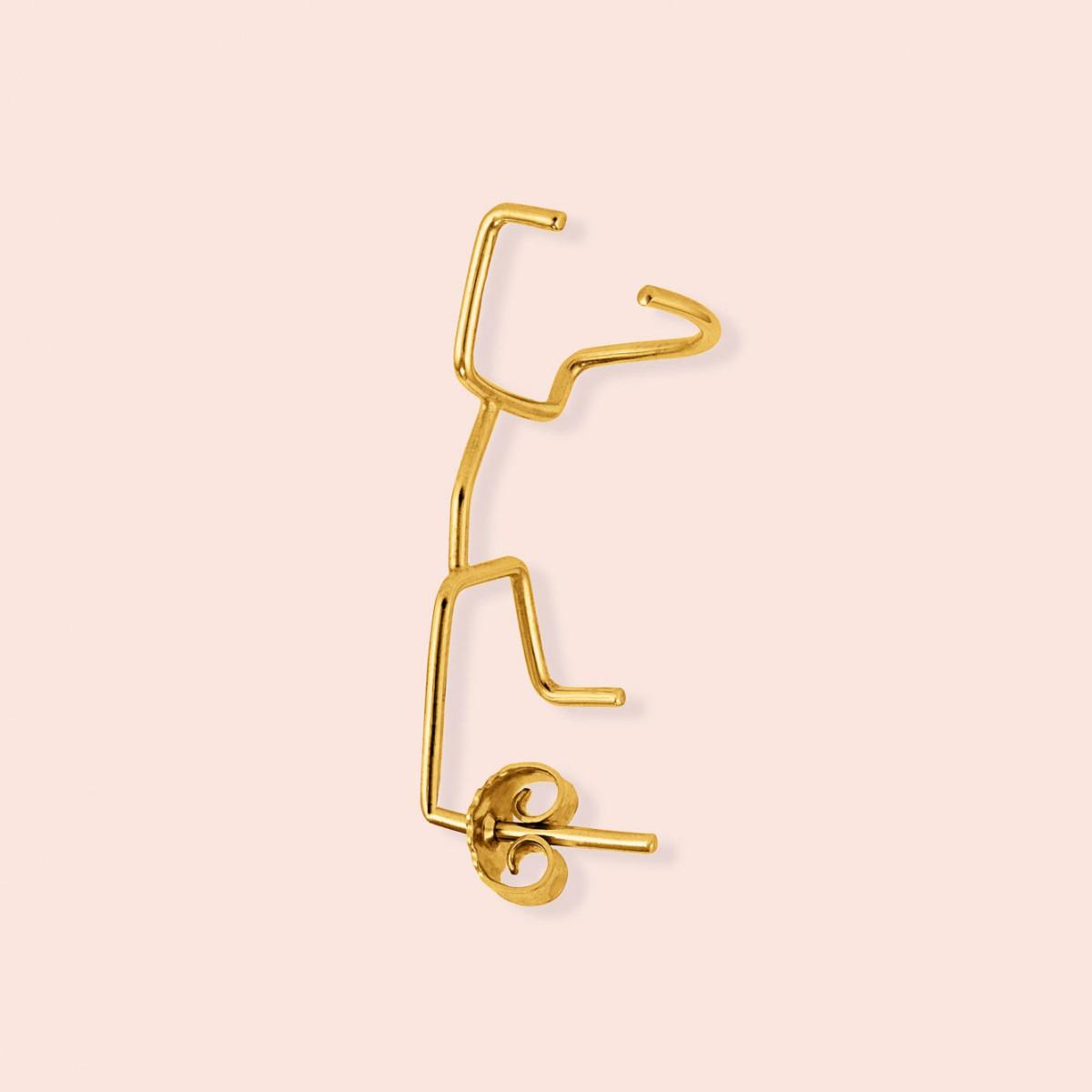 flash earcuff - 925 Sterlingsilber 18k goldplattiert