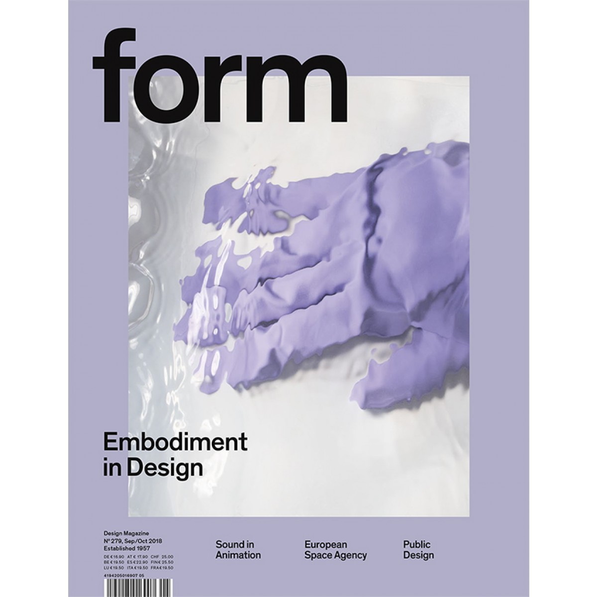 form N° 279. Embodiment in Design