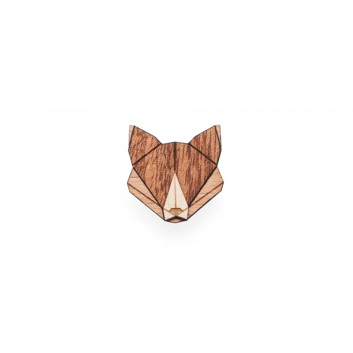 Fox Brooch von BeWooden