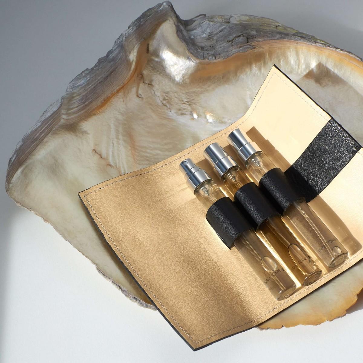 """Parfum-Etui """"CASE"""" Black inkl. 3x7,5ml EdP by Frau Tonis Parfum"""
