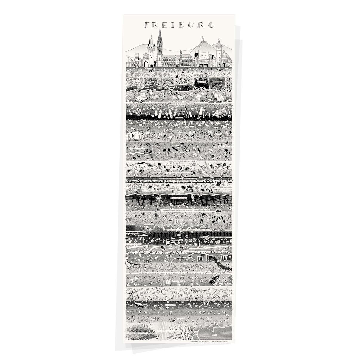 Wolfgang Philippi FREIBIURG PLAKAT 30x88 cm