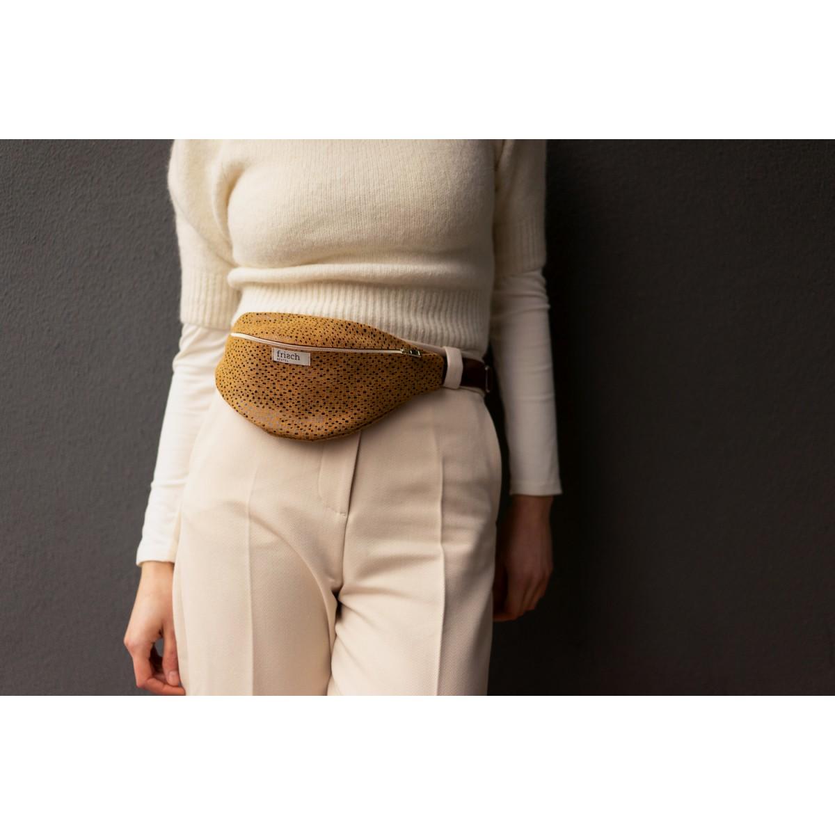 frisch Bauchtasche ART aus fairem Leder