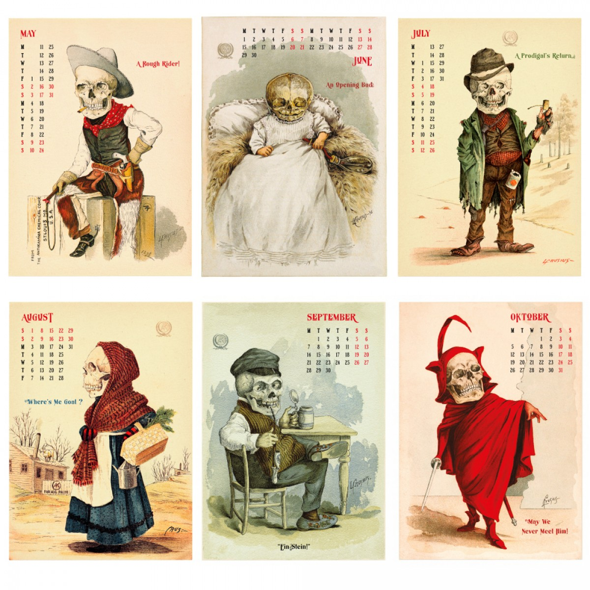 FUNNY BONES Kalender 2020 – DAC.design