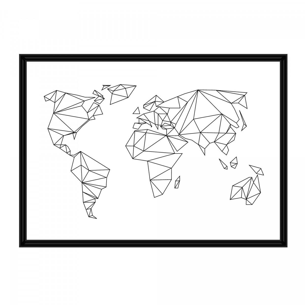 na.hili A1 / A2 POSTER Geometrical World Artprint