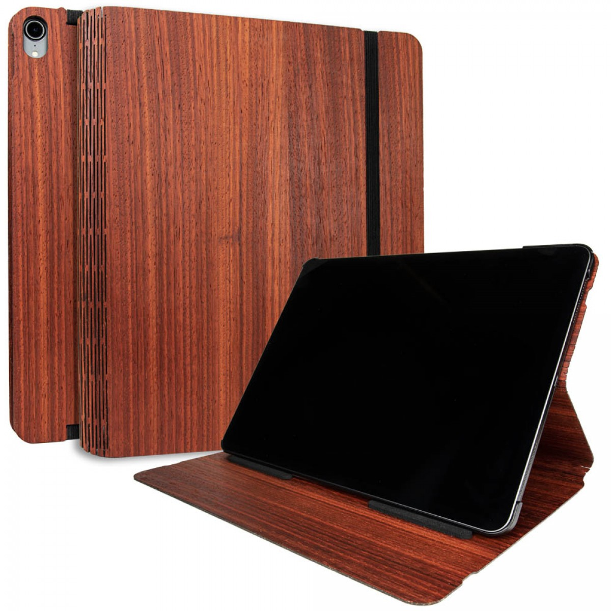 JUNGHOLZ Design WoodCase, Tabletcase, Padouk, iPad Pro 12.9'' 3.Generation