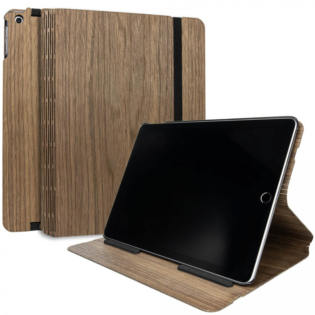 JUNGHOLZ Design WoodCase, Tabletcase, Walnuss, iPad 5. & 6. Generation
