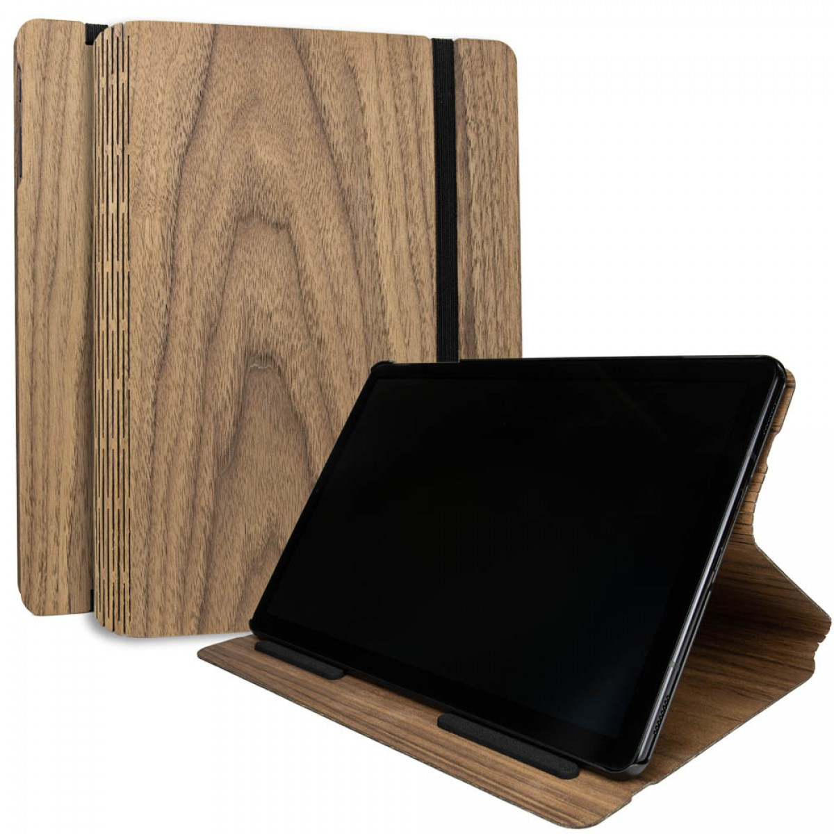 JUNGHOLZ Design WoodCase, Tabletcase, Walnuss, Samsung Galaxy Tab S4