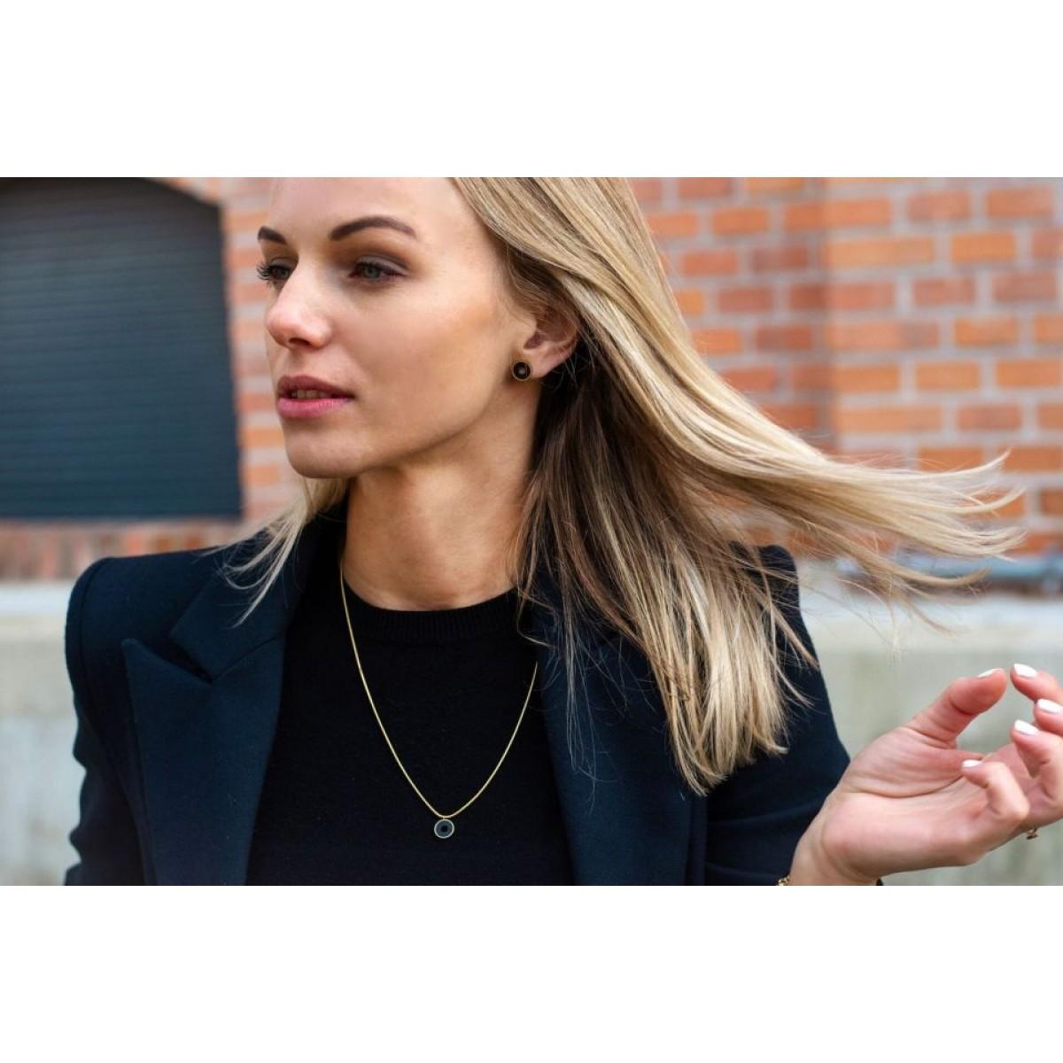 """BeWooden BeWooden Halskette aus Holz in runder Form """"Lux Necklace Circle"""""""