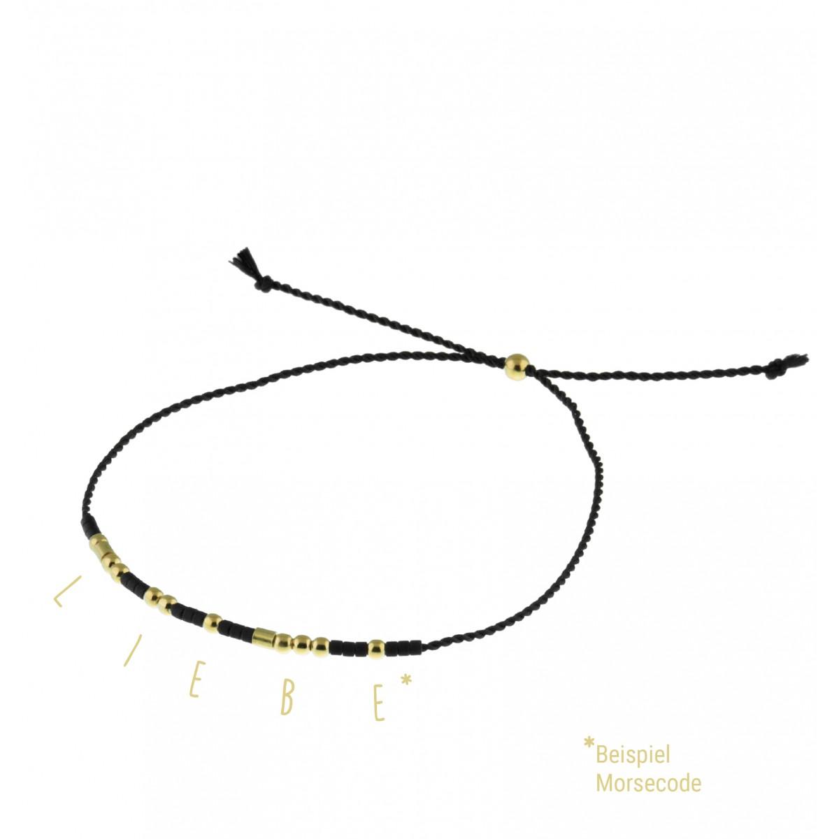 """DIY KIT """"MORSECODE"""" Armband 925er Silber vergoldet"""