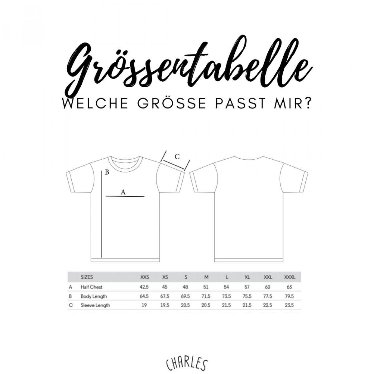 Charles / Shirt Weck, Worscht, Woi / 100% Biobaumwolle / Fair Wear zertifiziert