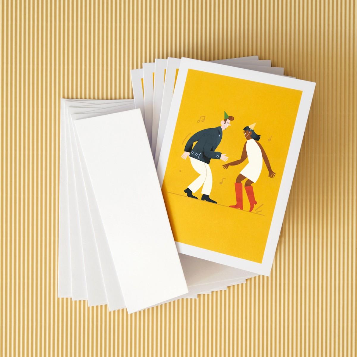 """Grußkarten-Set """"Tanzpaar"""" - Nachhaltige Geburtstagskarten"""