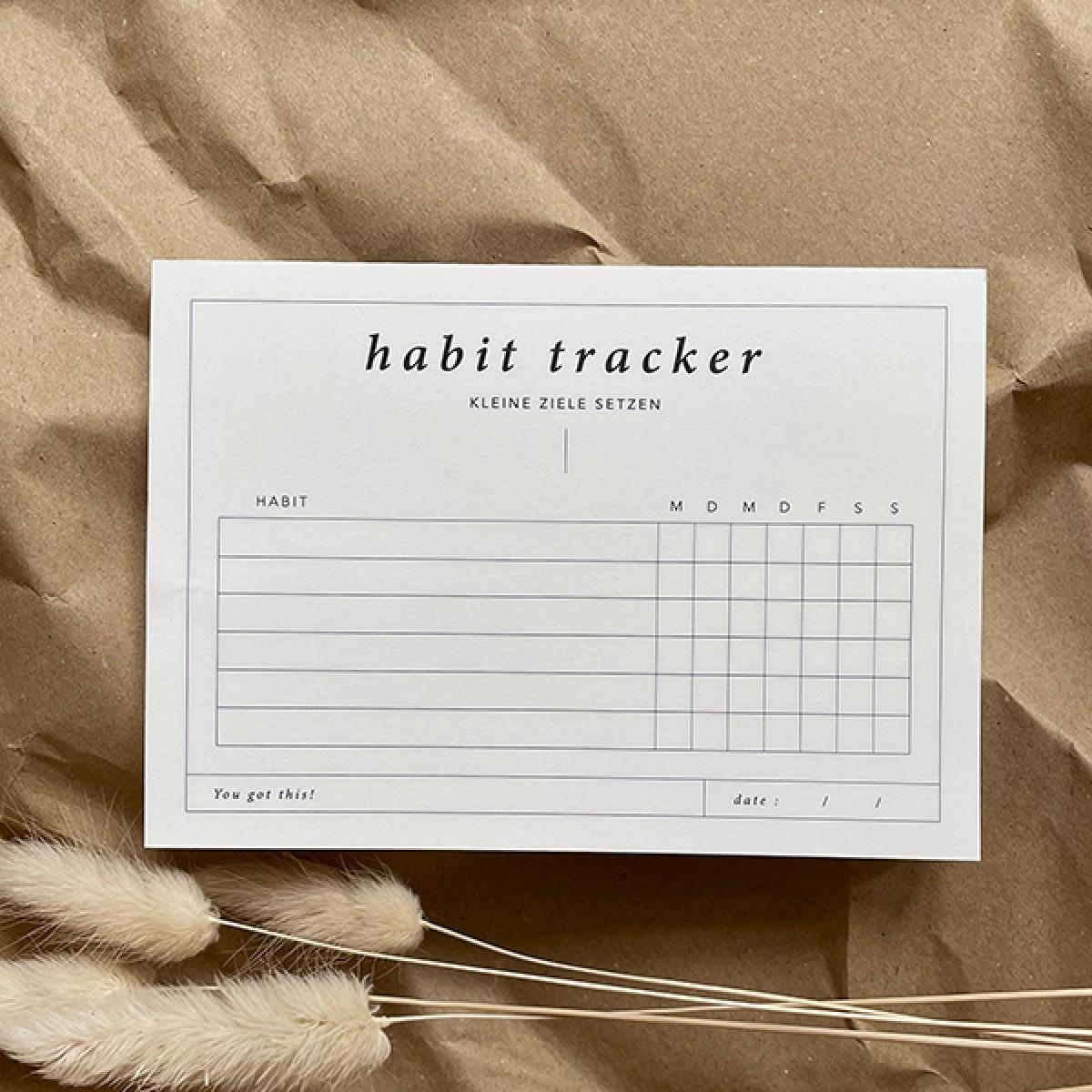 Habit Tracker Notizblock a6 quer | Gewohnheiten und Rituale | Erfolgsjournal | Ziele setzen | Motivation – Schnørkelig