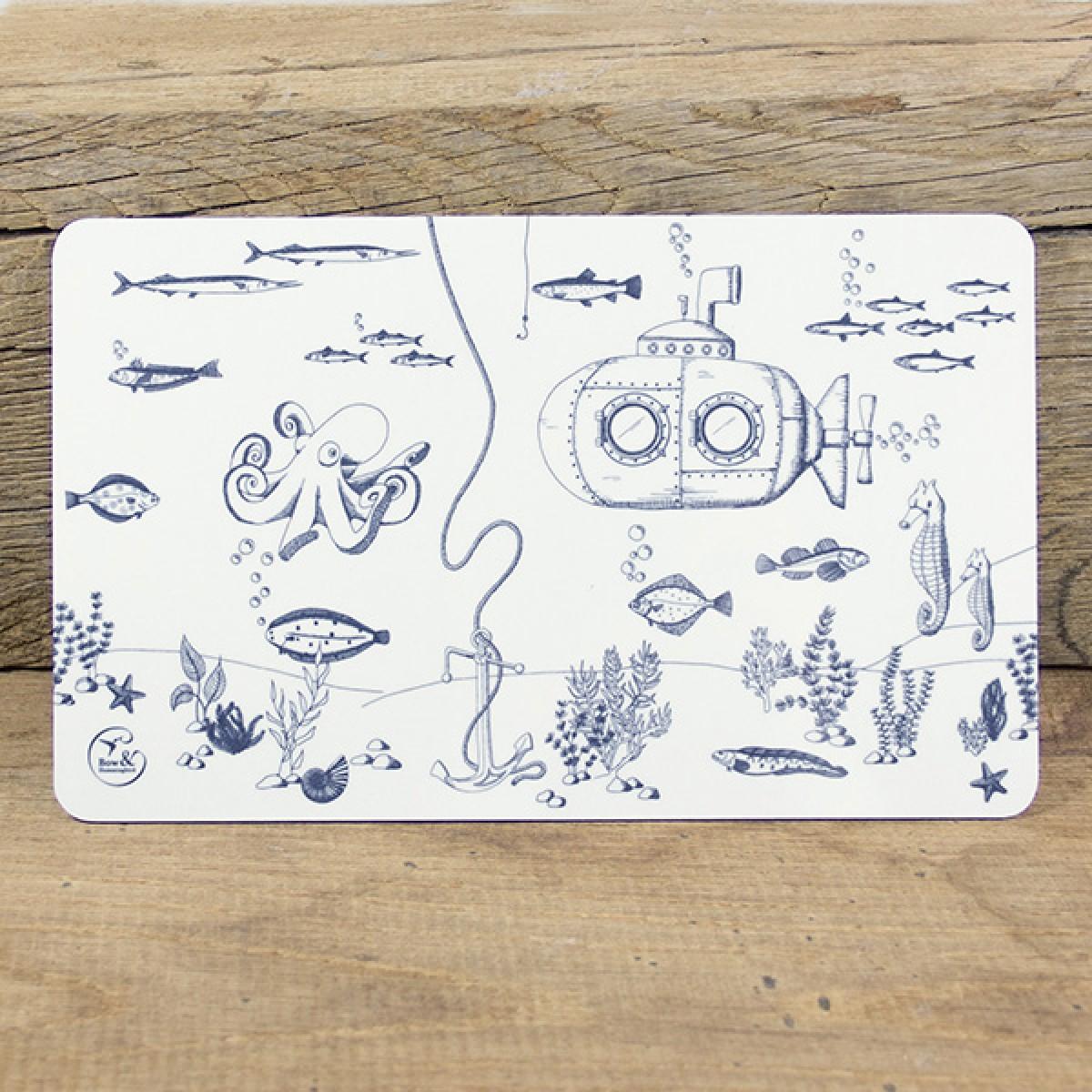 Bow & Hummingbird Frühstücksbrettchen Unterwasserwelt