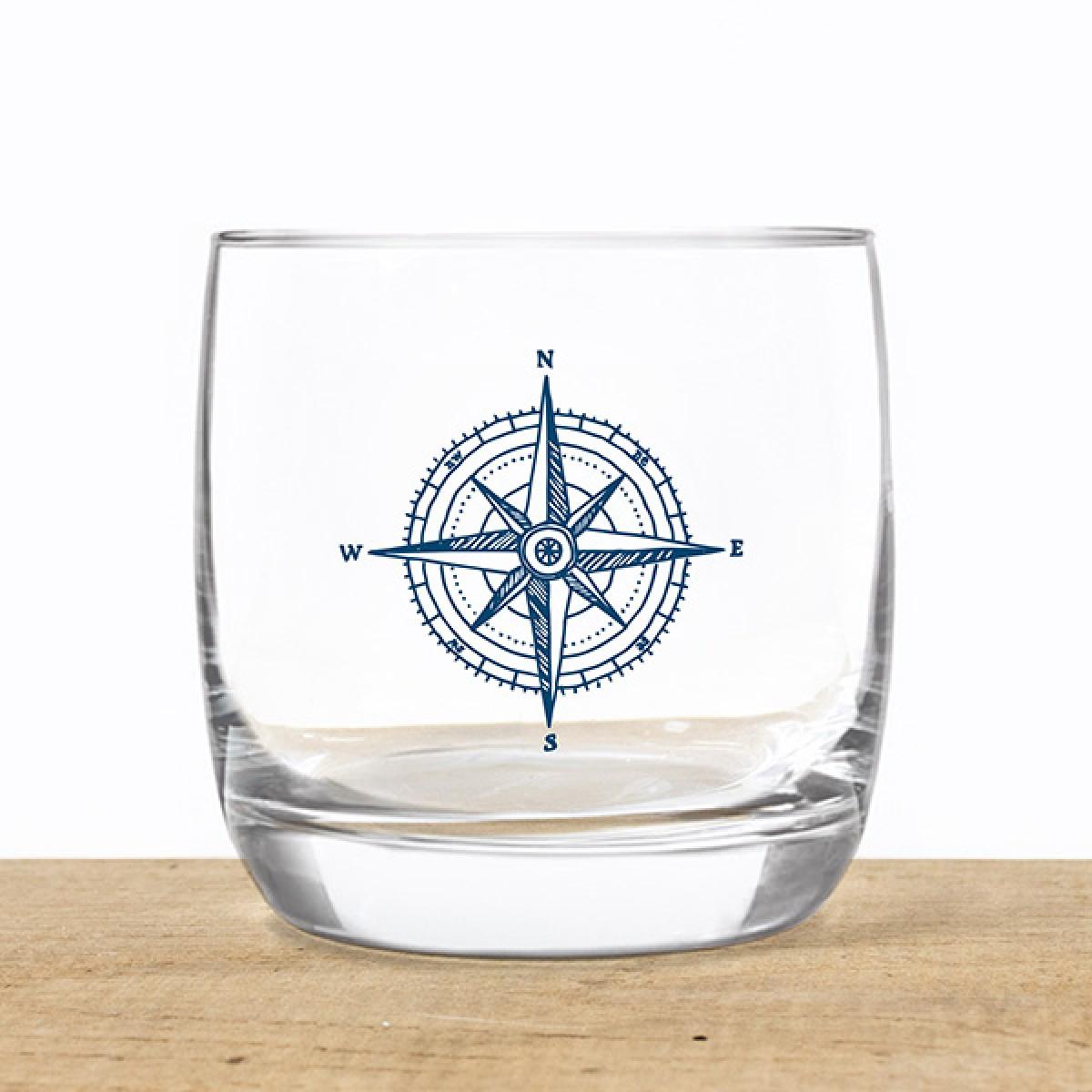 Bow & Hummingbird Kristallglas Kompass