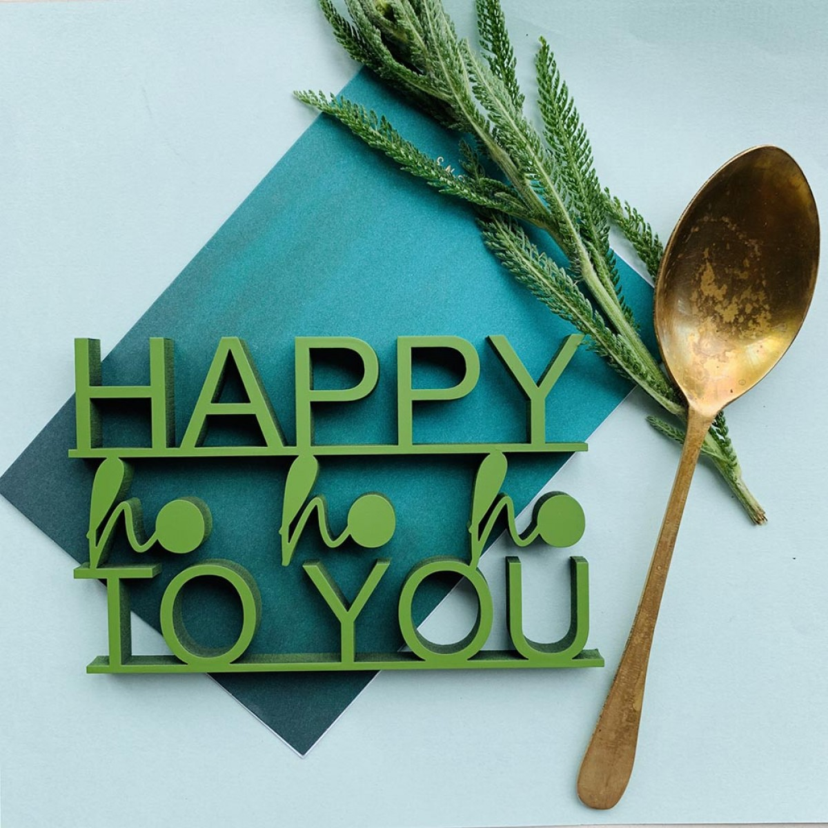 NOGALLERY Happy ho ho ho to you - Deko Schriftzug Holz