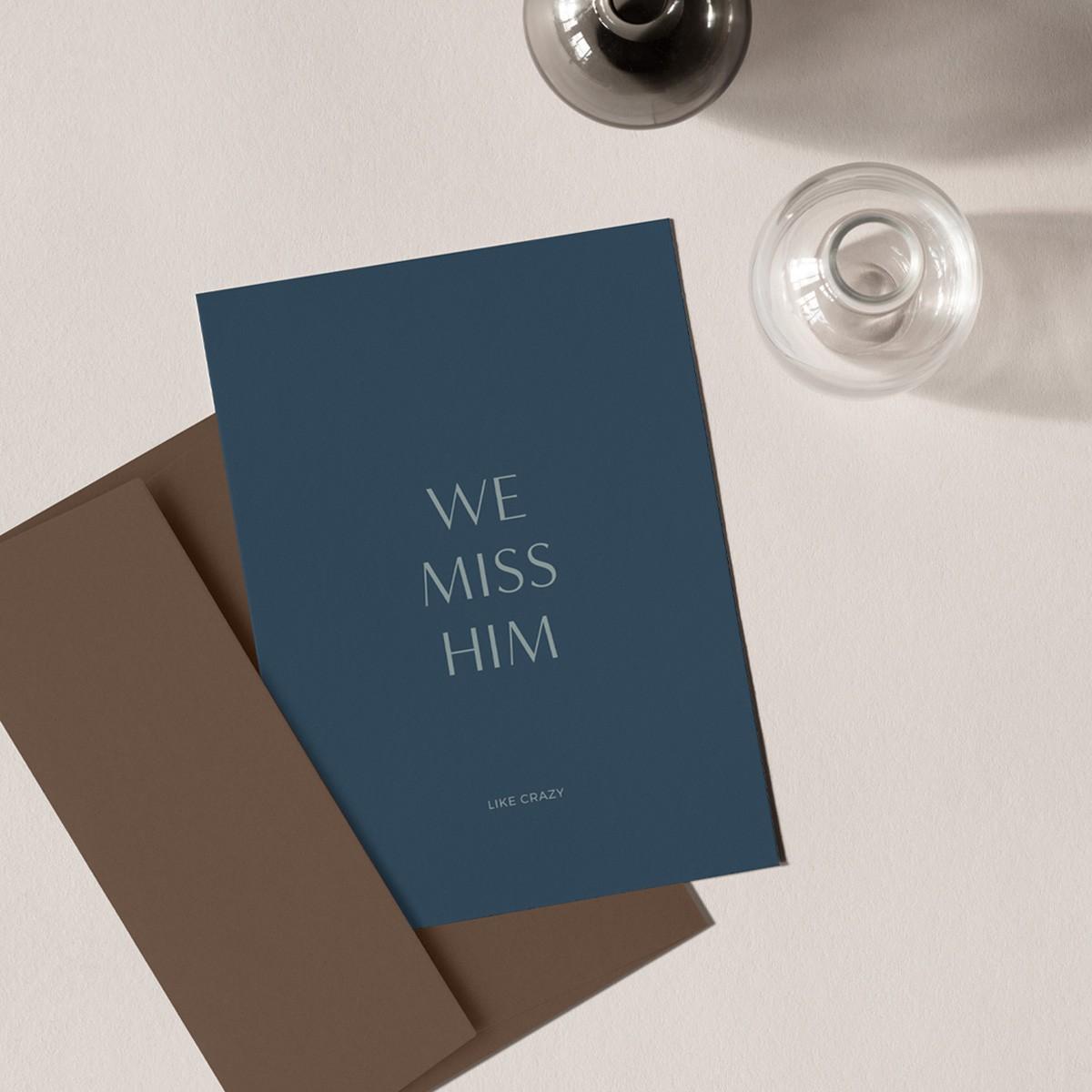 Missing Him | 3er Set Klappkarten inkl. Umschlag | heartfelt paper & co