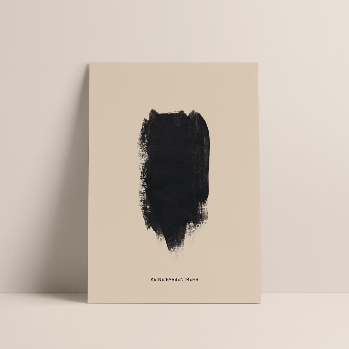 Keine Farben   3er Set Klappkarten inkl. Umschlag   heartfelt paper & co