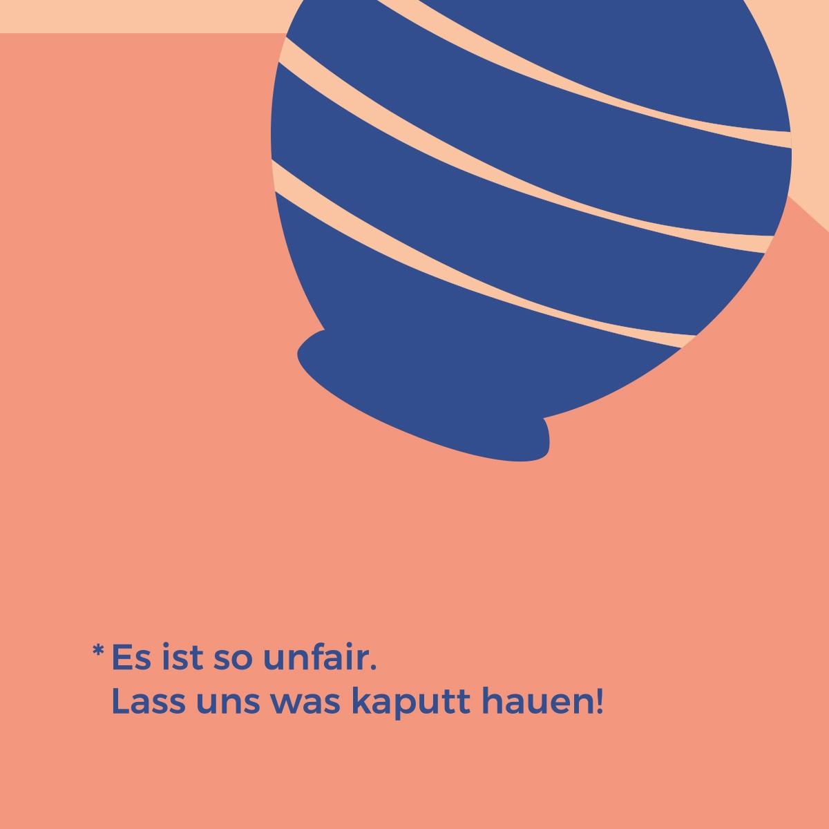 Unfair | 3er Set Klappkarten inkl. Umschlag | heartfelt paper & co
