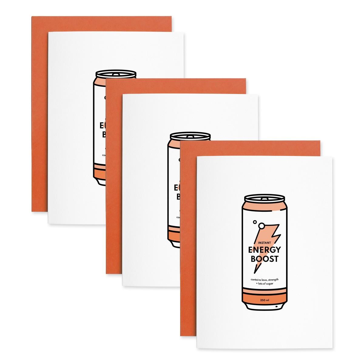 Energy   3er Set Klappkarten inkl. Umschlag   heartfelt paper & co