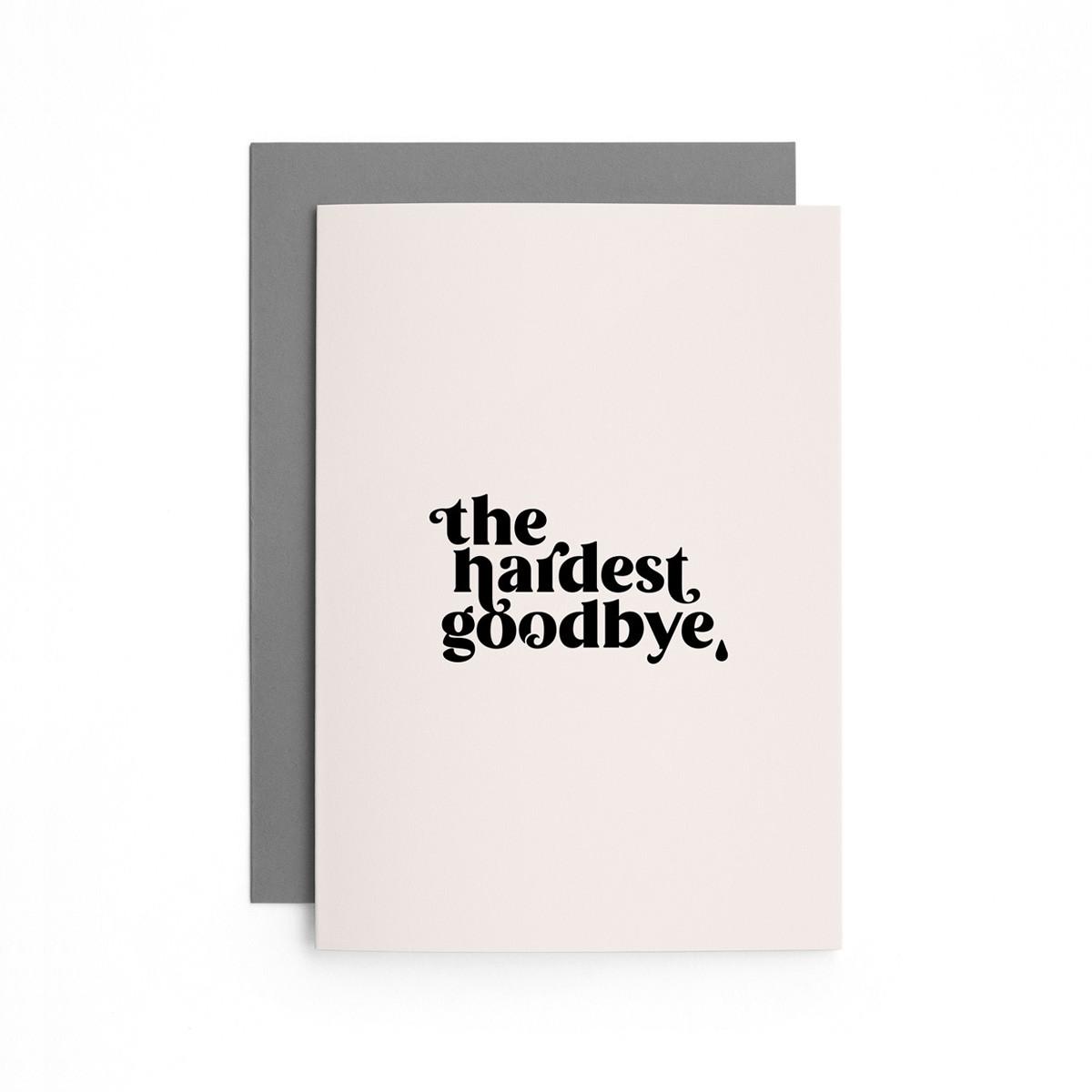 Set Hardest Goodbye | 4er Set Klappkarten inkl. Umschlag | heartfelt paper & co