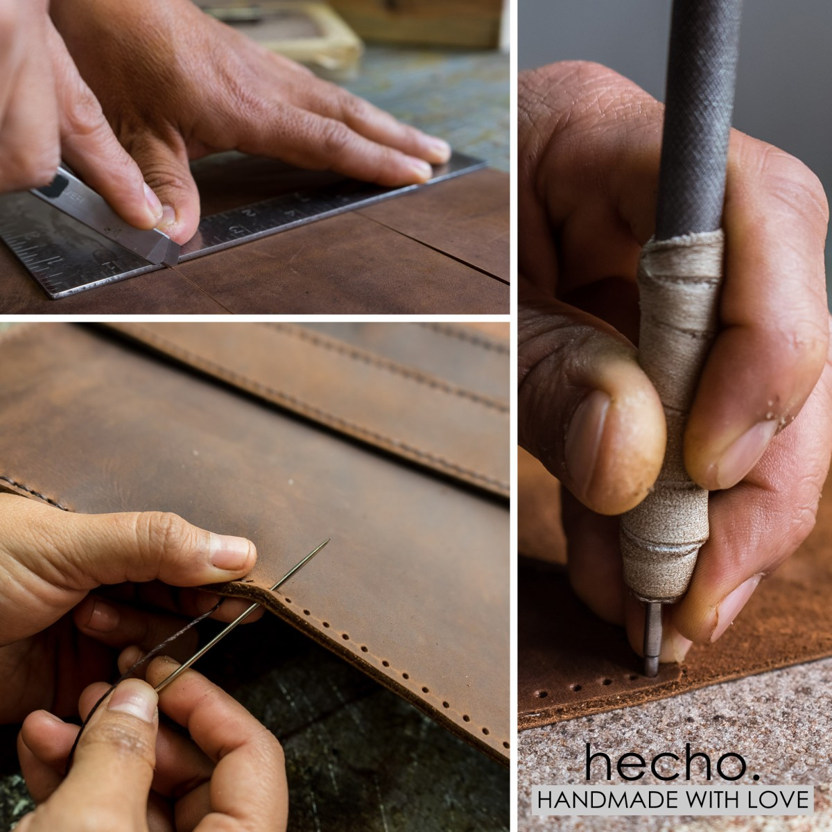 """hecho. Ledertasche """"Pablo"""" für MacBook Pro 13"""" Retina (Hülle, Cover, Sleeve, Schutz)"""
