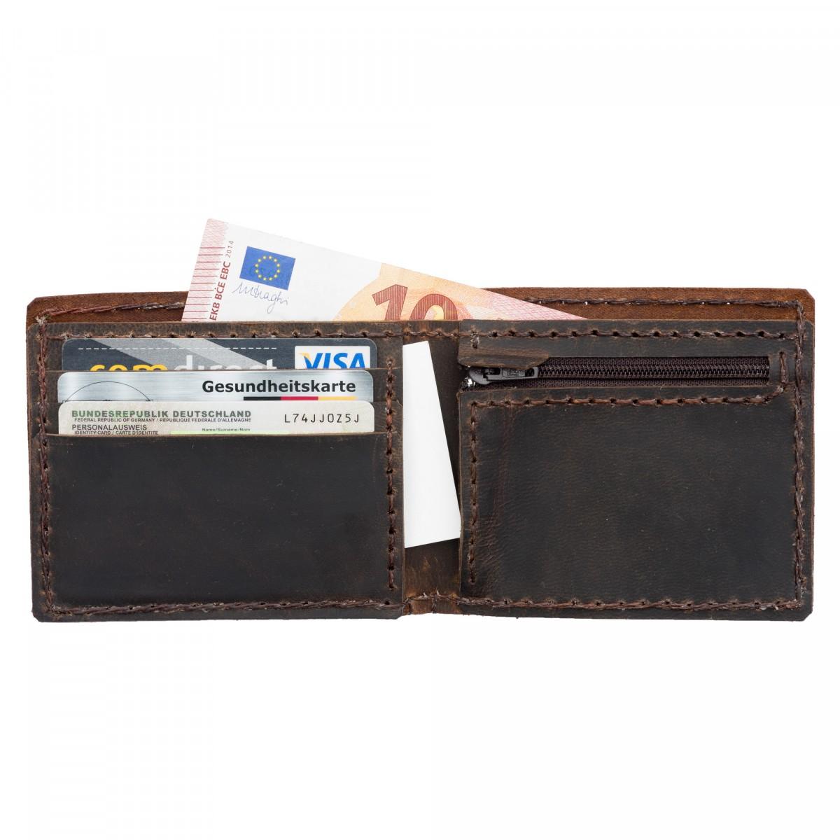 """hecho. Geldbörse """"Antonio"""" für Kleindgeld, Karten & Scheine (Brieftasche, Portemonnaie)"""