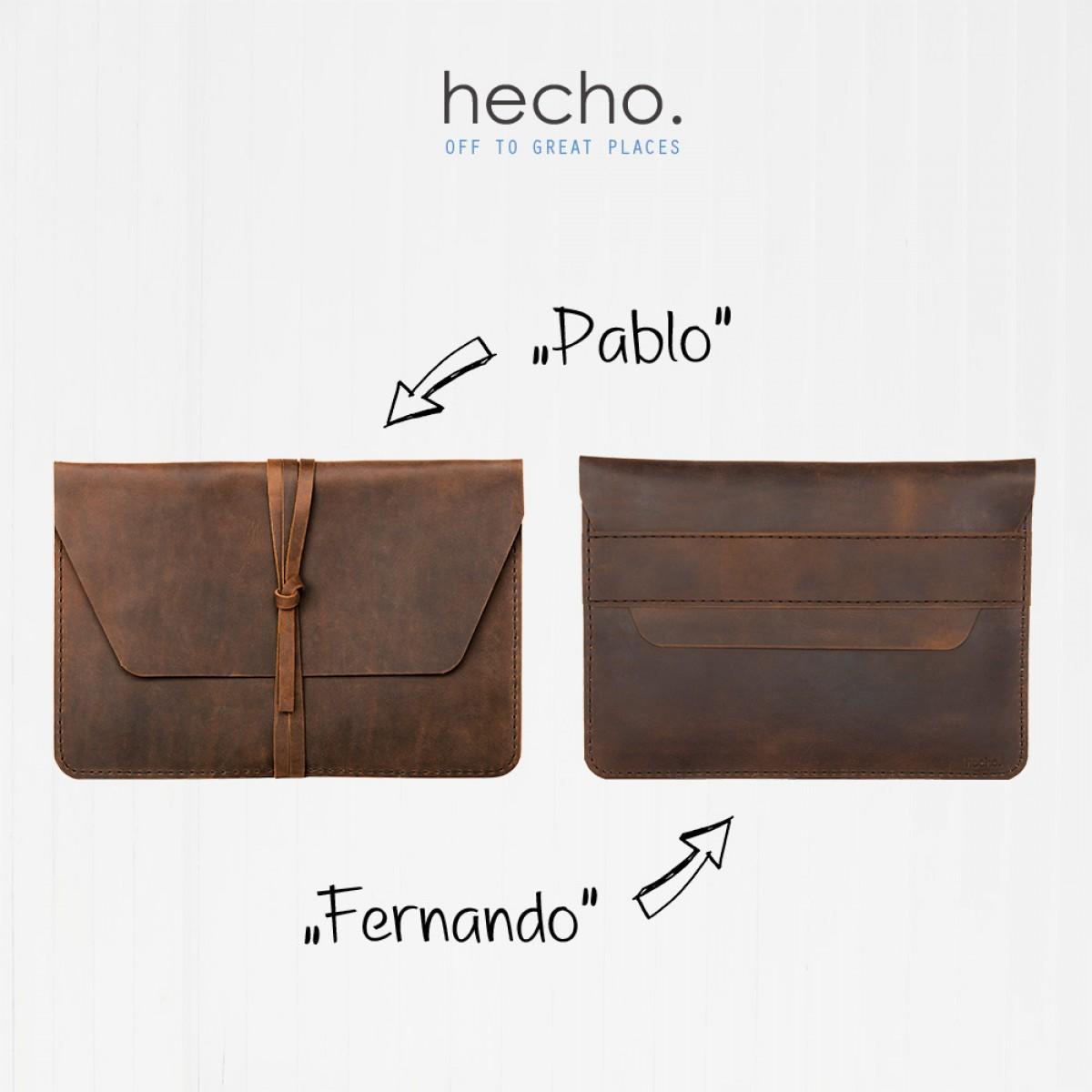 """hecho. Ledertasche """"Fernando"""" für MacBook Air 13"""" Retina, 2018 (Hülle, Cover, Sleeve, Schutz)"""