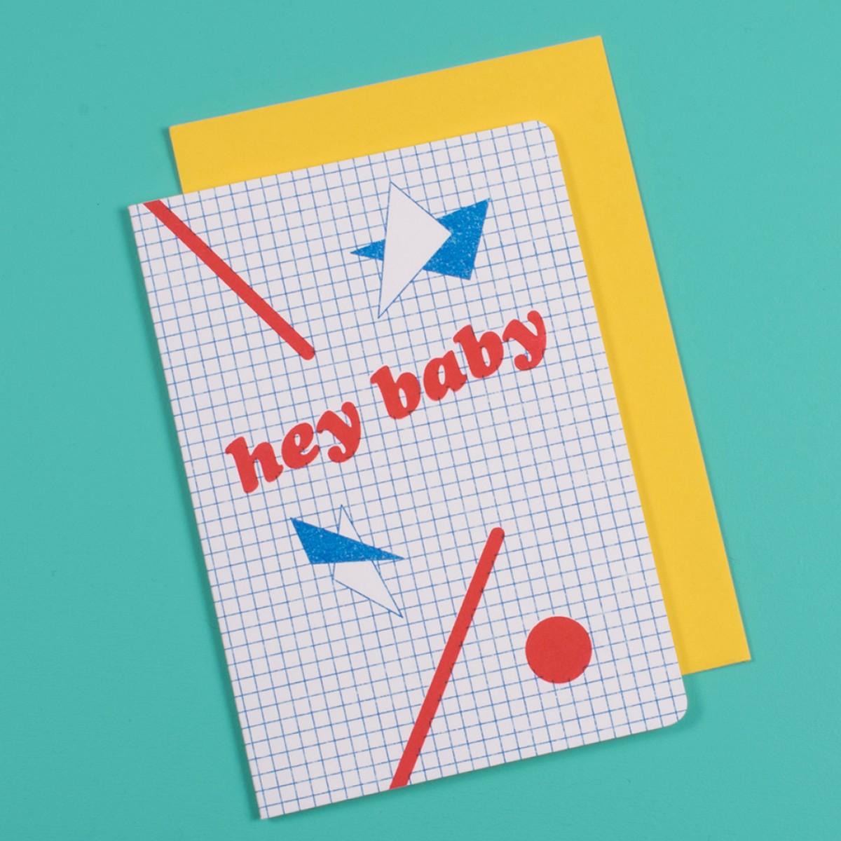 polypodium / hey baby - Grußkarte - Risoduck
