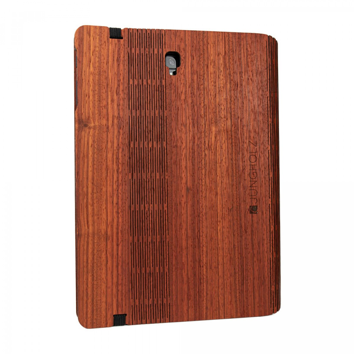 JUNGHOLZ Design WoodCase, Tablet, Padouk, Samsung Galaxy Tab S4