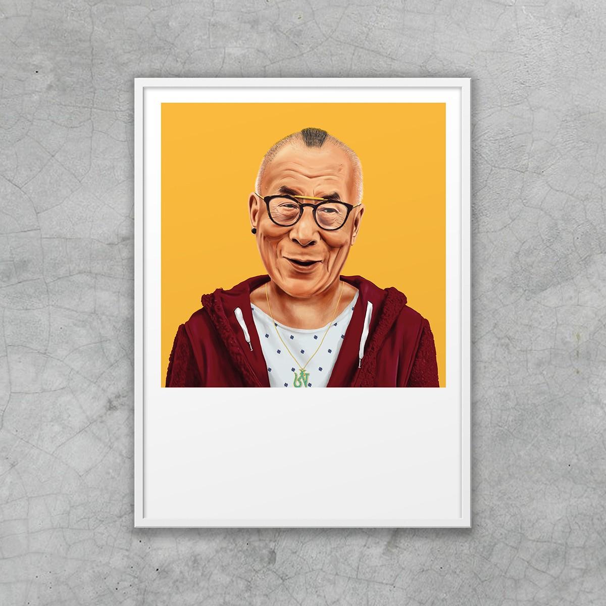 edition ij HIPSTORY Dalai Lama DIN A5-Wandprint