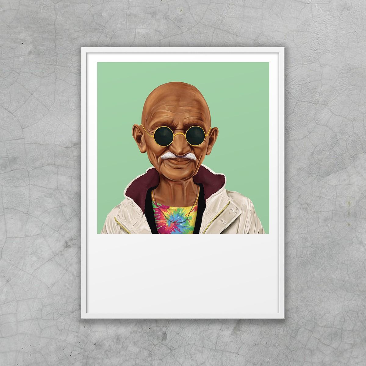 edition ij HIPSTORY Mahatma Ghandi DIN A5-Wandprint