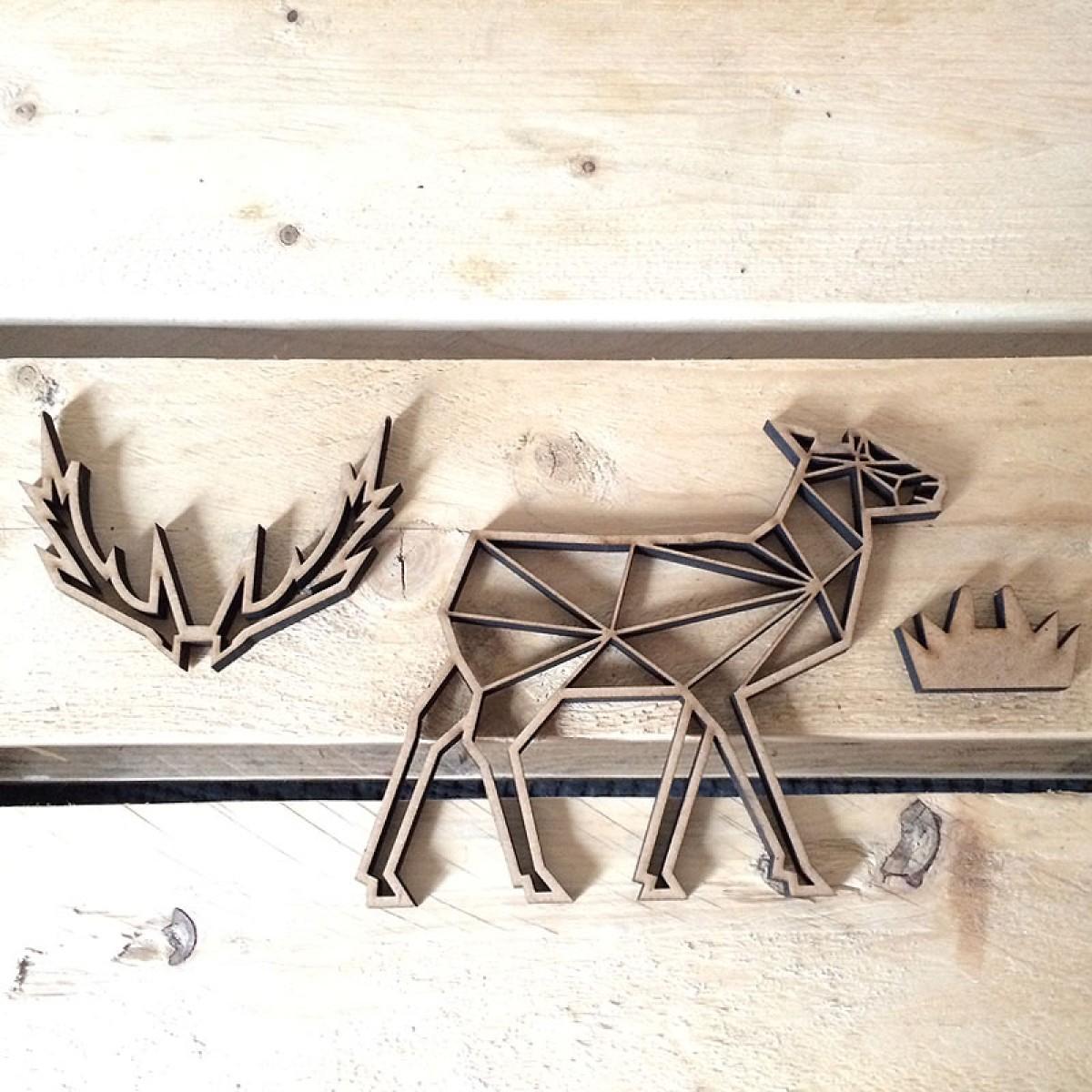 Hirsch - Holz Motiv Deko Aufsteller