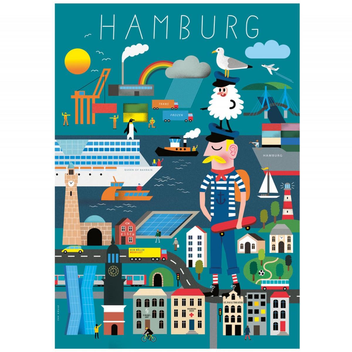human empire hamburg erkl rbuch poster din a3. Black Bedroom Furniture Sets. Home Design Ideas