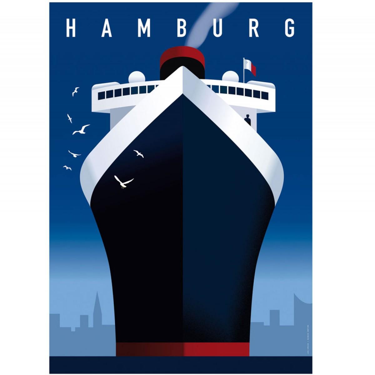 human empire hamburg hafen poster 50x70cm. Black Bedroom Furniture Sets. Home Design Ideas