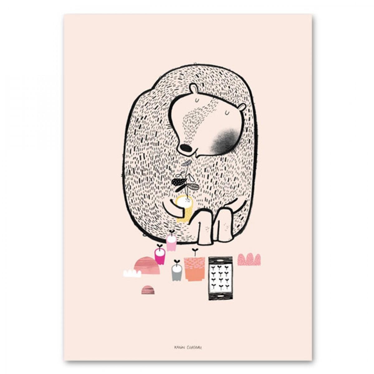 Human Empire Plant Bear Poster (50x70cm)